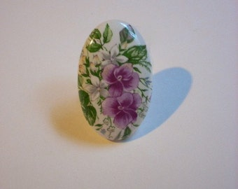 Floral Victorian Ring Vintage Upcycled Jewelry One of A Kind Handmade