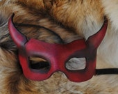 Ruby Imp Leather Mask