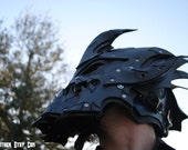 1337 PHS SALE: Sapphire Dragon Lord Leather Helm