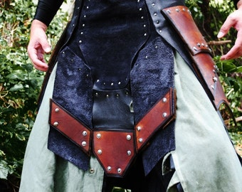 SCA Leather War Kilt Armor