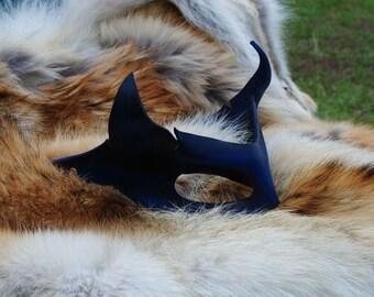 Sapphire Imp Leather Mask