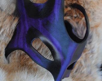 Amethyst Drake Leather Mask