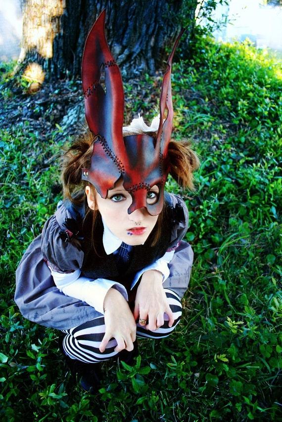 Spliced Bunny Leather Mask