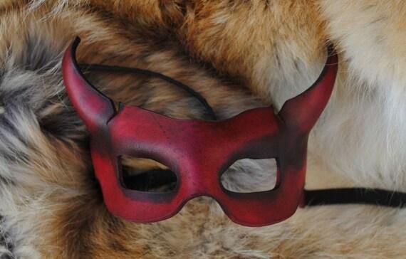 Ruby Imp Leather Mask