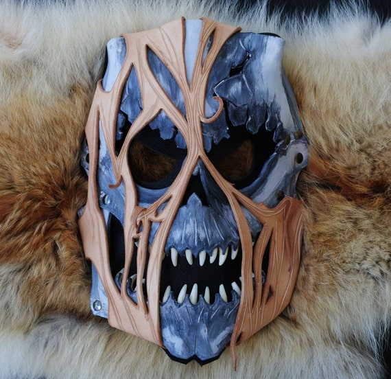 SALE: Leather Akuma Zombie Mask