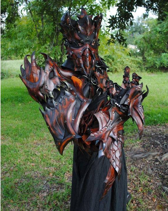 Epic Leather Modular Armor: Dragon Slayers Bastion - Upper Portion