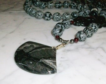 Witching Hour - Natural Crystal and Stone Chakra Healing and Balancing Necklace