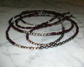 Love Goddess - Garnet and Sterling Silver Natural Crystal and Stone Heart and Root Base Chakra Necklace