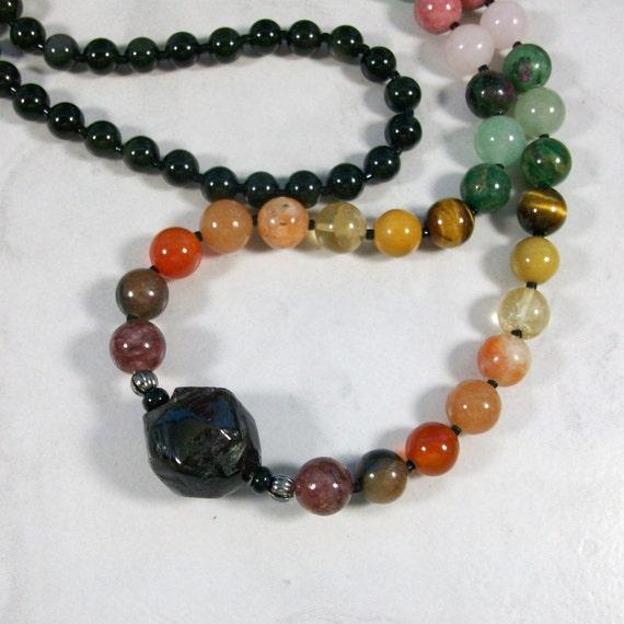 Balance - Full Spectrum OOAK Chakra Natural Crystal Healing Necklace