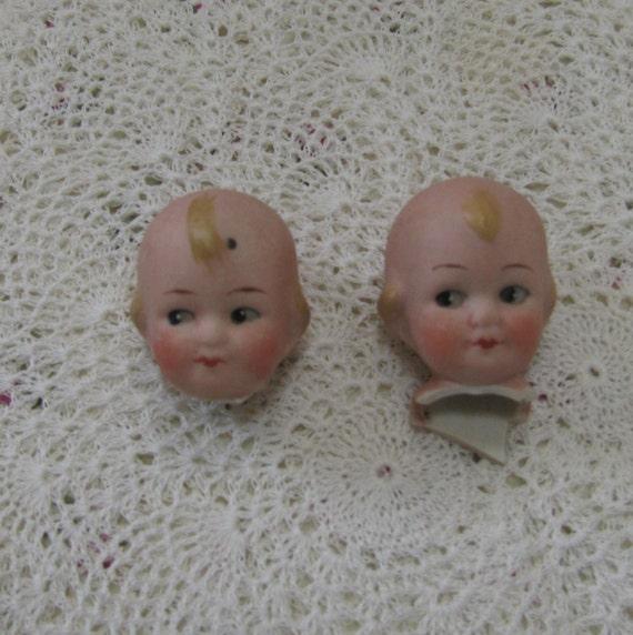 SALE See Shop Announcement for Details Antique Porcelain Bisque Doll Head Lot 3