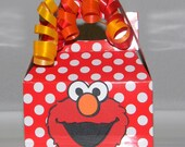 Elmo  Party Favor Boxes - Mini Red and White Polka dots