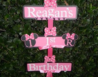 Minnie mouse birthday decoration Etsy
