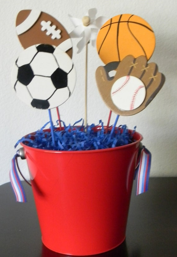 Items Similar To All Star Themed Sports Centerpiece On Etsy