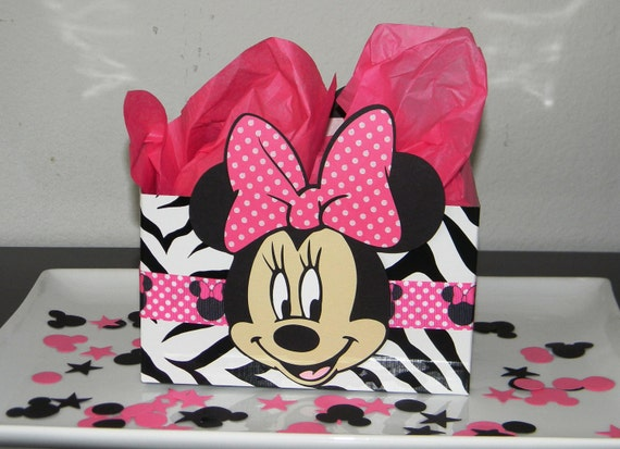 Minnie mouse centerpiece balloon base zebra and hot pink