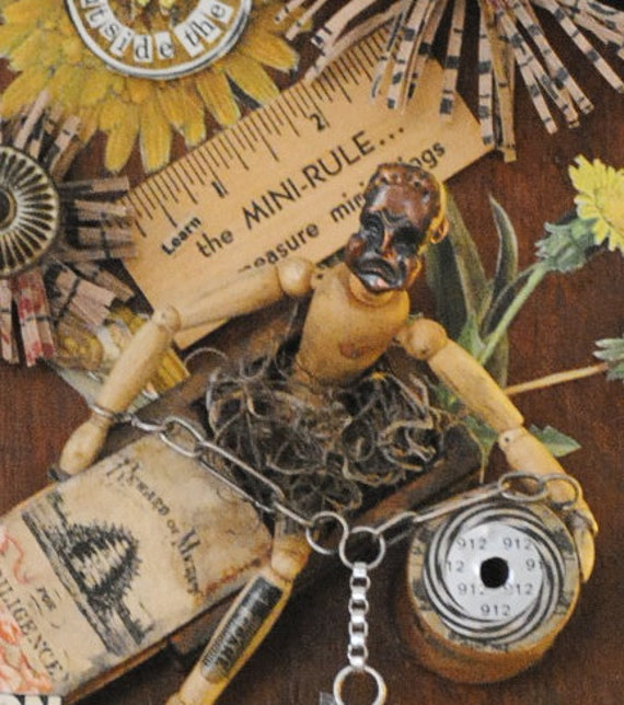 Question Everything.... Mixed Media, Found object assemblage
