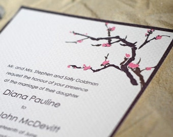Cherry Blossoms- Wedding Invitation