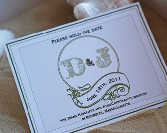 Vintage Monogram- Save the Date