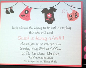 Cute Onsie- Baby Shower Invitation