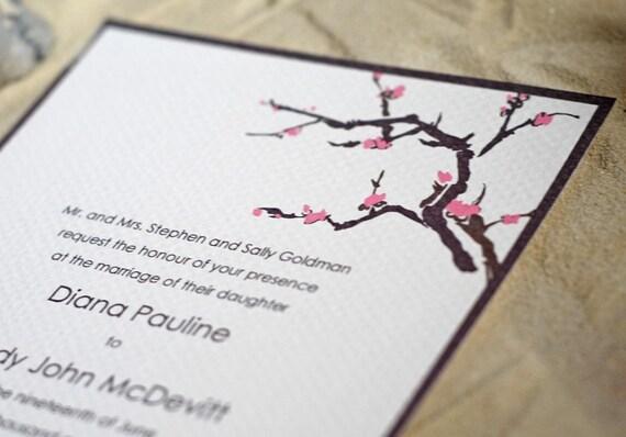 Cherry Blossoms- Wedding Invitation