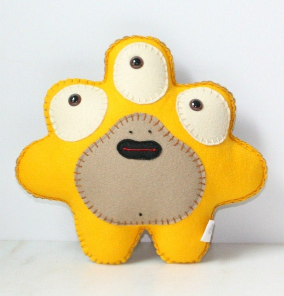 Stuffed Monster Plush, Felt Monster Plush, Alien Plush, Cute Plush, Felt Stuffed Monster