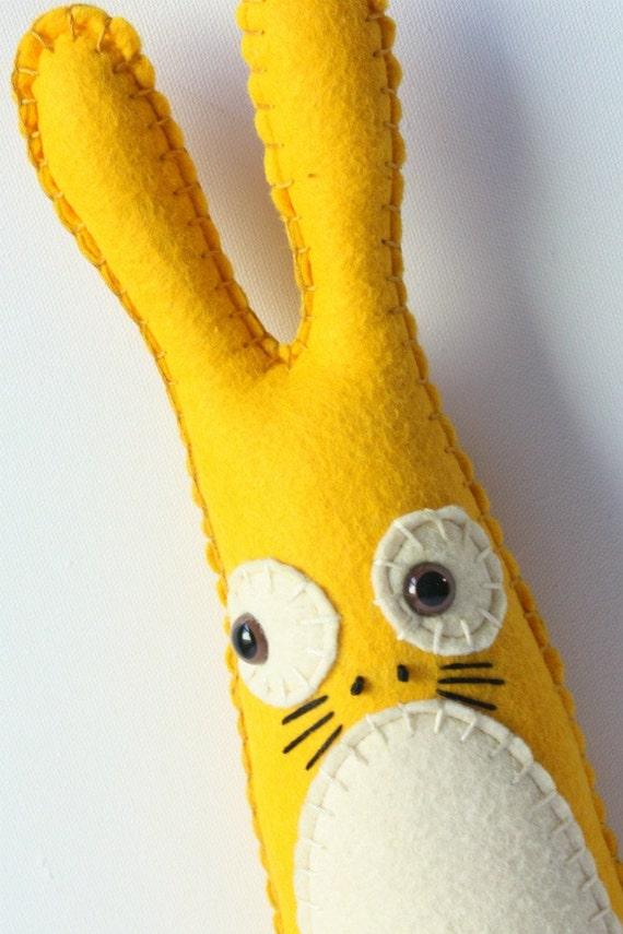 Yellow Rabbit Stuffed Animal, Stuffed Easter Bunny Stuffed Animal, Plushie