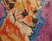Custom Original Dog Portrait Painting Acrylic on Canvas 16X20