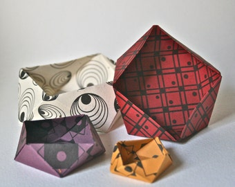 Origami Bowl Kit - Paper Folding Project for Crafting and Decor