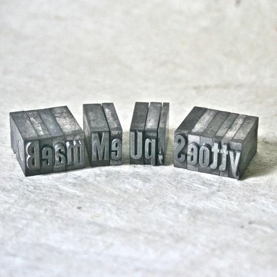 Metal Printer's Type - Beam Me Up, Scotty