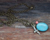 RESERVED E. Kimber - Springtime at the Pier Seagul Charm Collection Necklace