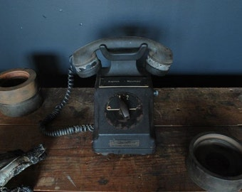 Very Early 1940's Fernsig Explosion Proof Telephone