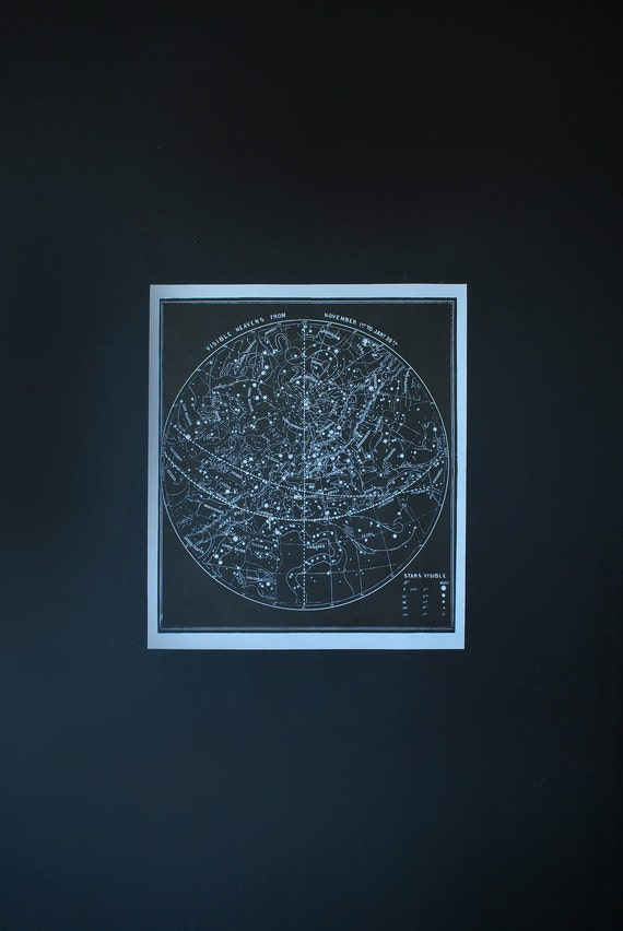 Constellation Poster Star Map