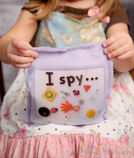 Handmade I Spy Treasure Game - Travel - boys and girls - fleece