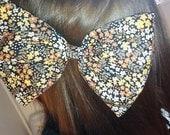 HUGE statement hair / head bow - vintage floral