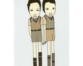 Two For One - Illustration Art Print