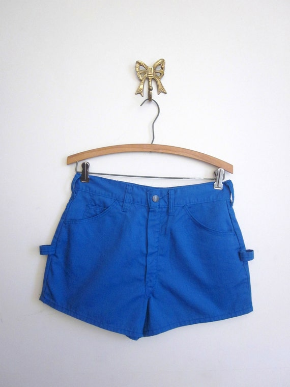 vintage 70's BIG YANK blue shorts women's retro