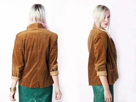 vintage 70's Lady Grandeur corduroy blazer rust fall winter preppy women's