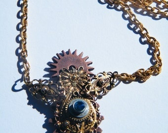 Gold Steampunk Necklace