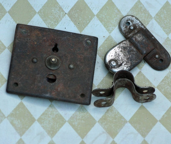 Rusty Metal Lock 2 pieces to add to your Collage and Art
