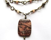 Hippocampus. Crazy Horse Stone and Lepidolite Necklace.