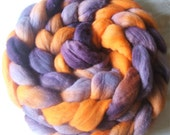 Dodo Bird - Purple & Orange Hand Dyed Merino Top - 170g (6oz)