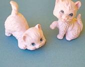 Ceramic Pink Cats Kittens Mid Century