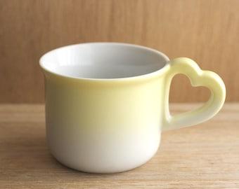 Yellow Heart Mug Vandor Imports 1980s Kitsch Coffee Cup