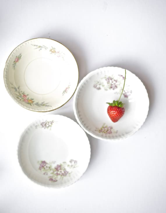 China Bowls Saucers Instant Collection Small Cottage Shabby Decor Mismatched