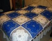 Blue & White Bandana Quilt