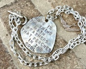 Hope is the Thing With Feathers Necklace - Emily Dickinson Poem