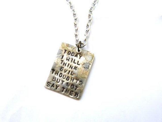 The Tactful Reminder Necklace
