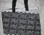 "miss machine couture: handmade handbag with high end materials, original, ""Gina"" Tote"