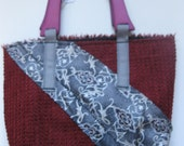 "miss machine couture: handmade handbag with high end materials, ""Xaviera"" Handbag"