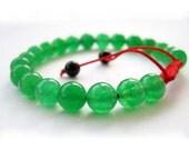 8mm Malay Jade Beads Tibetan Buddhist Wrist Mala Bracelet For Meditation  T2664