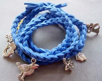 Hand Knited Vintage Style Disney Bracelet With Pendant  T1973